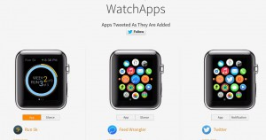 liste applis apple watch et demos